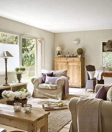 This has a really open and airy feel with soft hues of tan Light airy paint colors