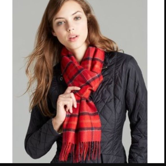 Barbour scarf Merino and cashmere Barbour scarf. Never worn Barbour Accessories Scarves & Wraps