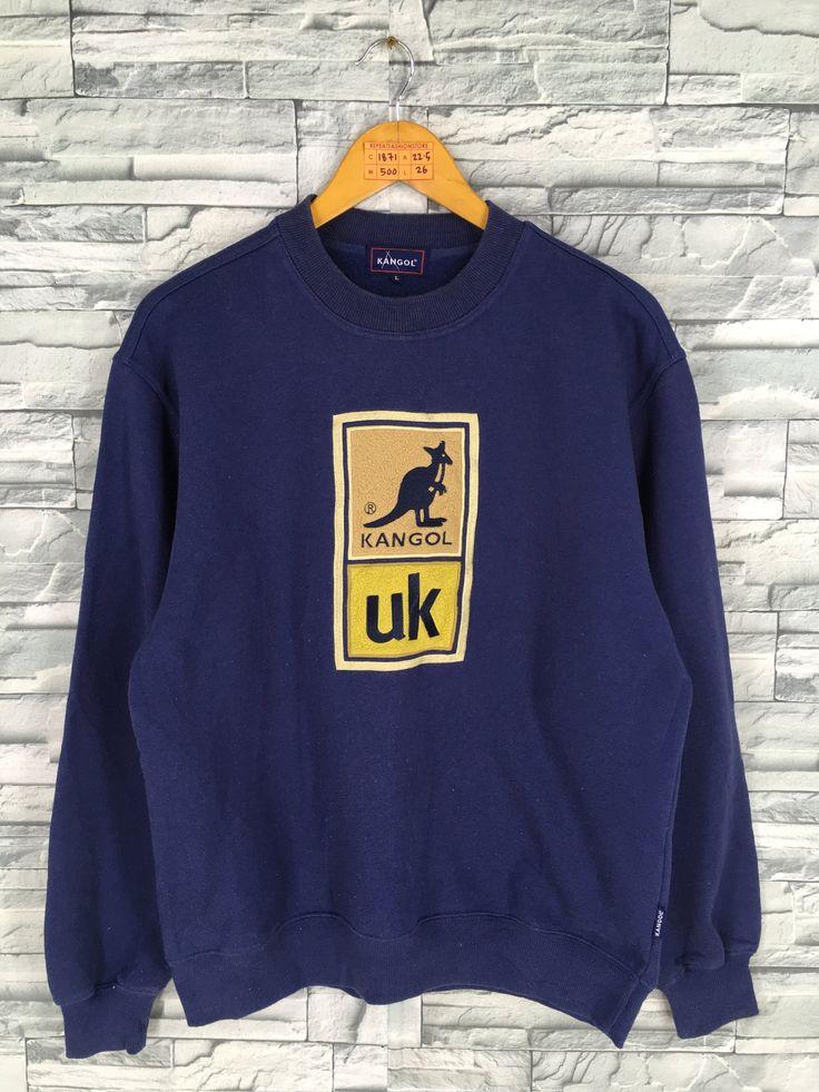 Vintage KANGOL Pullover Sweatshirt Large 90s Kangol Sports