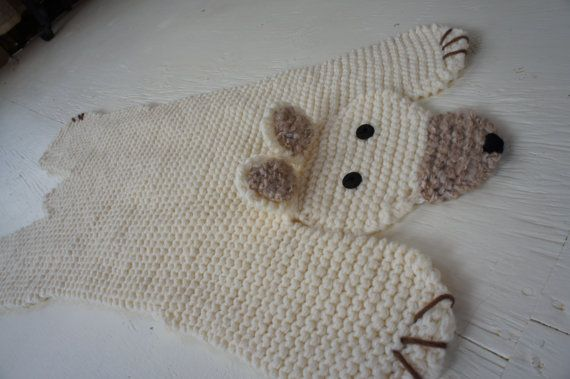 Polar Bear Rug Knitting Pattern : Pdf knitting pattern bear rug patterns