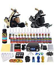 Solong Tattoo Kit 2 Tattoo Machine 28 Inks Power Supply Pedal Needles Handles Tips …  – Beauty