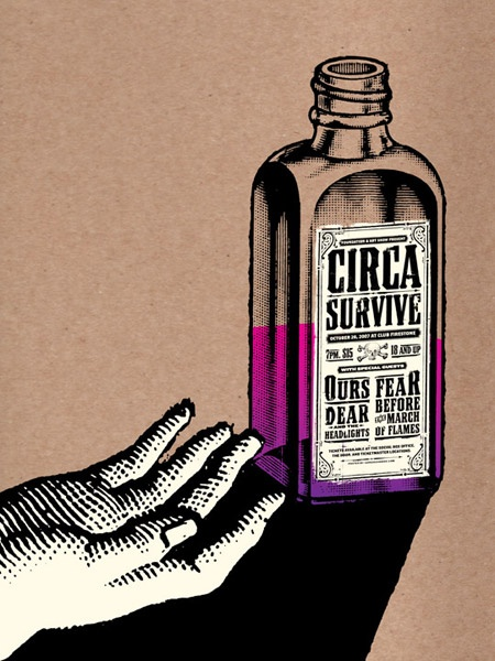 GigPosters.com - Circa Survive - Ours - Fear Before The March Of Flames - Dear And The Headlights
