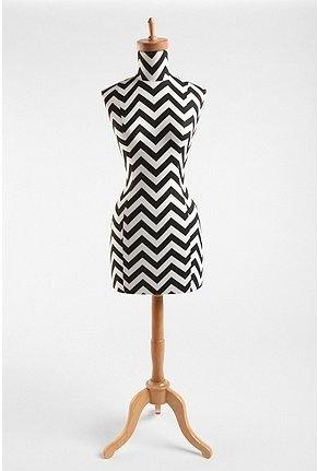 Zig Zag Wood Base Dress Form - StyleSays