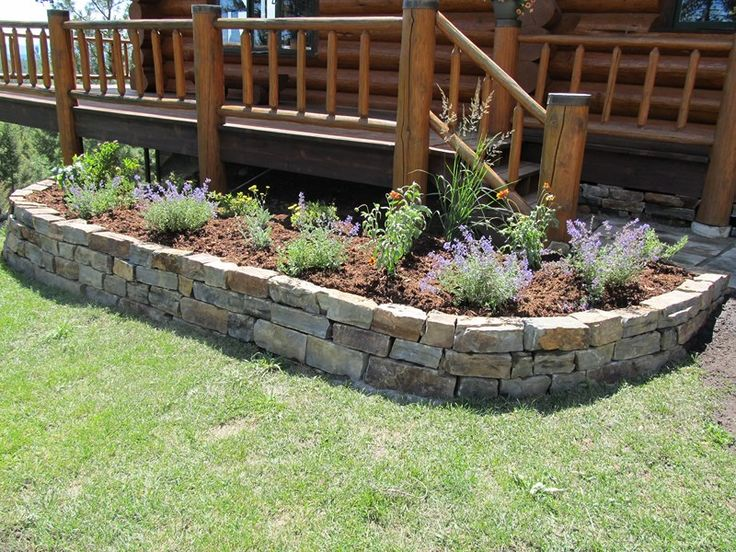 17 best ideas about stone landscaping on pinterest for Rock garden bed ideas
