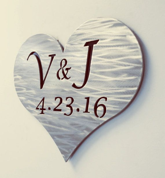 Personalized Metal Sign for Save the Date by ReflectiveEdgeDesign