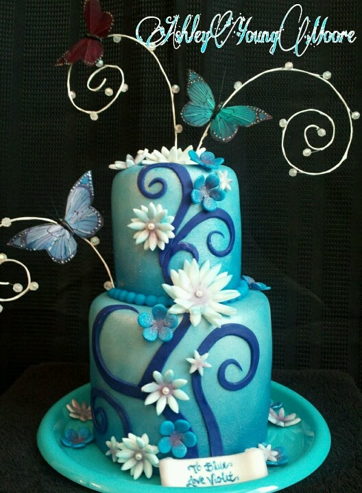 8 best birthday cakes images on Pinterest Butterfly cakes
