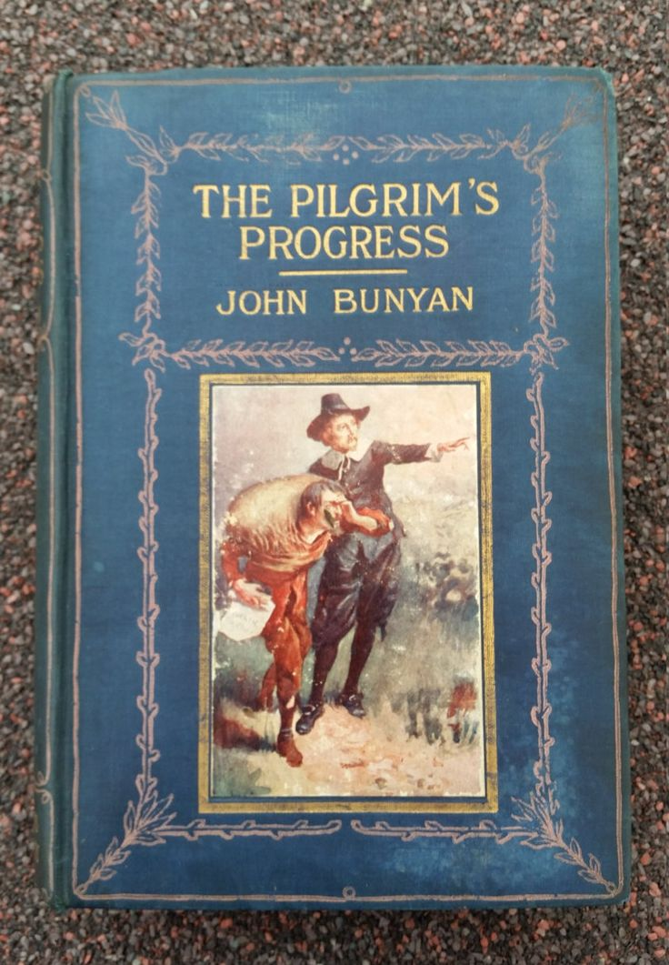 Wonderful Antique Book - The Pilgrim's Progress By John Bunyan - The Religious Tract Society - Published 1911. Montford Bridge 1913 by OnyxCollectables on Etsy