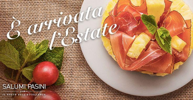 Mix tropicale per iniziare l'estate: prosciutto crudo e ananas! Tropical mix to begin the summer: Ananas and Parma ham! #salumipasini #prosciutto #ananas