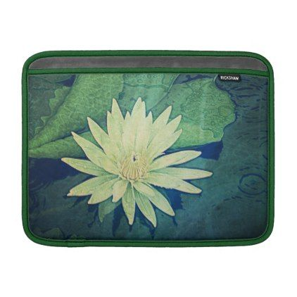 "Water Lily Flower Lilies Macbook Air Sleeve 13"" - diy cyo personalize design idea new special custom"