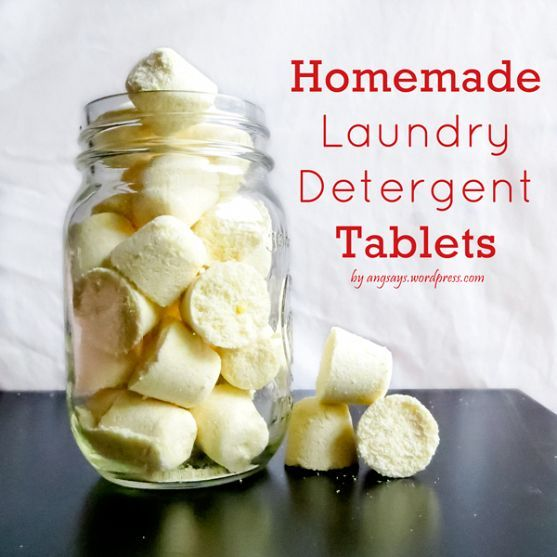 Homemade Laundry Detergent Tablets: I'd do this but use vinegar instead of water.
