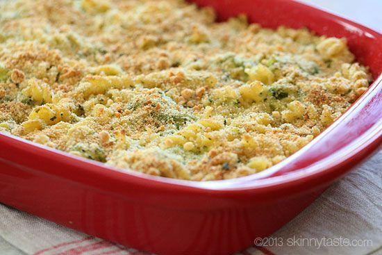 Skinny Baked Broccoli Macaroni and Cheese   Skinnytaste