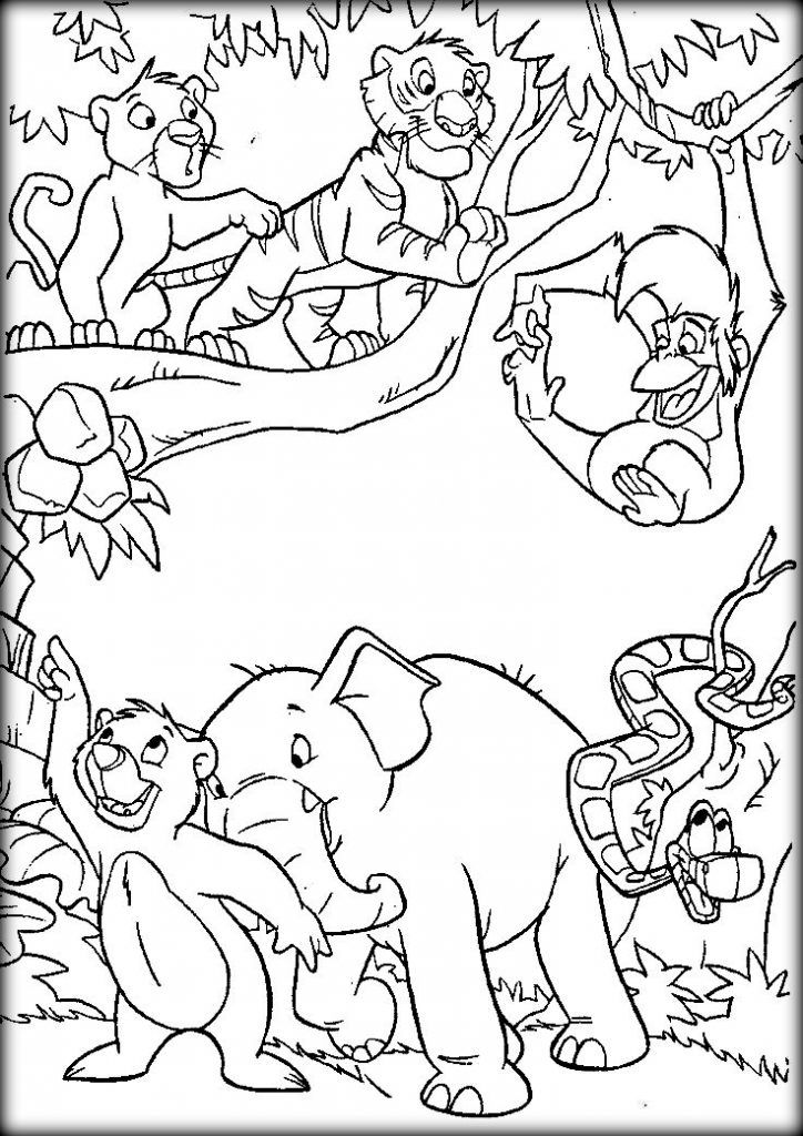 Image result for jungle picture to color in