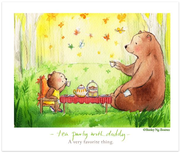 We Love to Illustrate - tea party with daddy