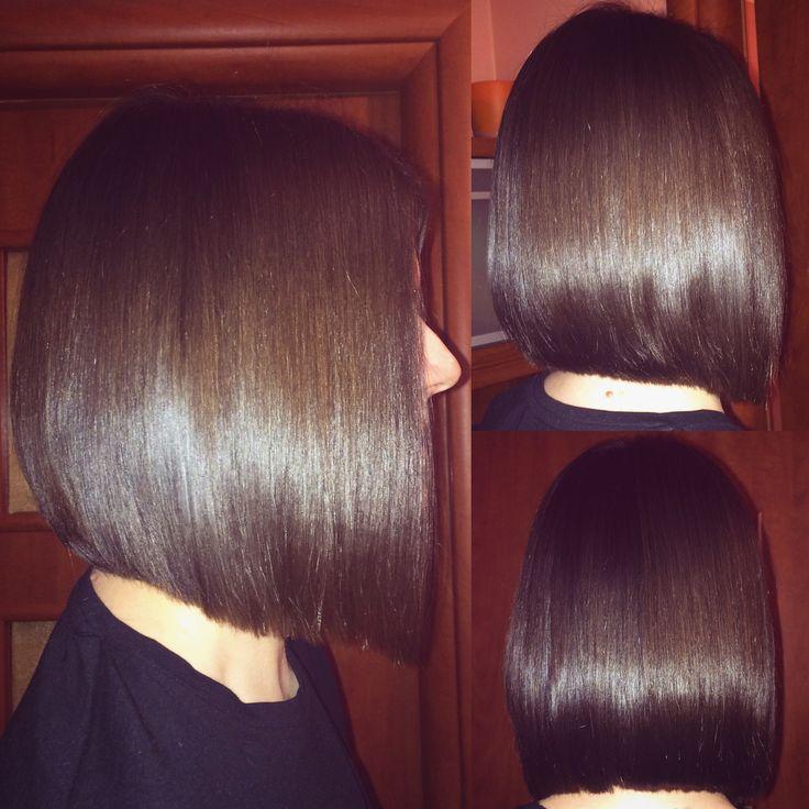 Brunette haircut