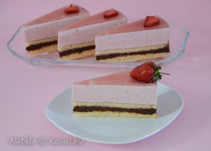 torta od čokolade i jagoda