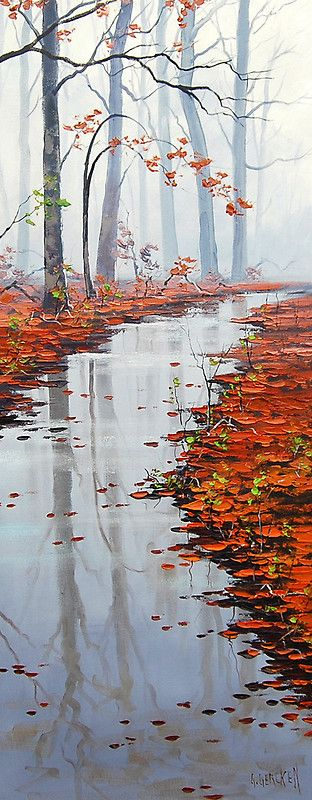 """Autumn Solitude"" by Graham Gercken. autumn fall leaves color peaceful"