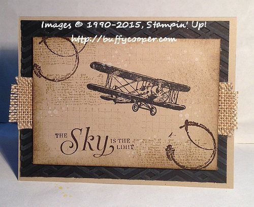 278 best su masculine cards images on pinterest masculine cards timeless stamping in winchester va with buffy cooper vintage look in kraft and black vintage plane and coffee stains stampin up bookmarktalkfo Choice Image