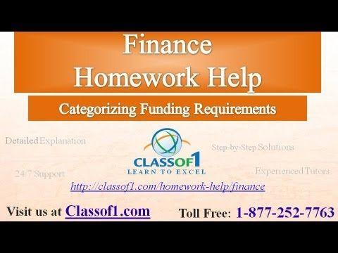 best finance homework help images homework categorizing funding requirements classof1 com homework help