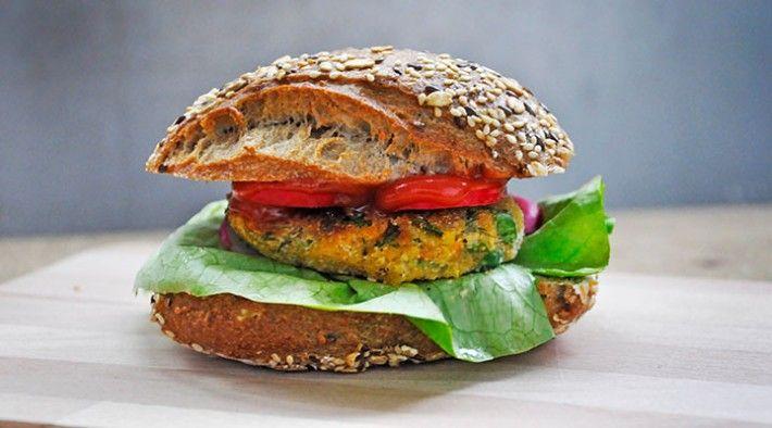Vegan option | Red Lentil Veggie Burger Patties with Greens from Gourmandelle