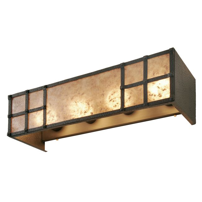 I could totally build a box like this with seeded glass panels and put it over the existing vanity light in my bathroom...must try!