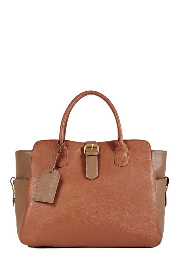 The Pantheon by JustFab is a fashionable and functional masculine-inspired tote.