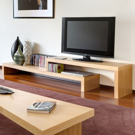 I would have loved this console in my first apartment! #modern #tv #organize