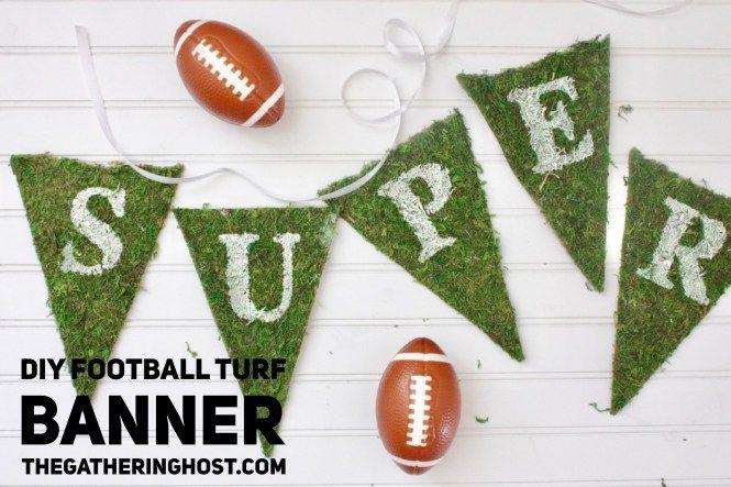 DIY Football Turf Banner | Football or Soccer Themed Birthday | thegatheringhost.com