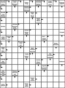 Leichtes Kreuzworträtsel