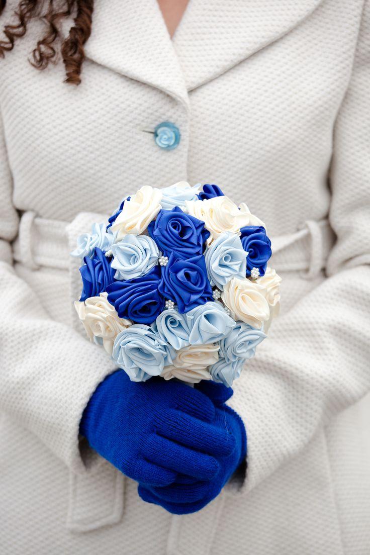 [Whimsical] Ribbon flower bouquet & attire