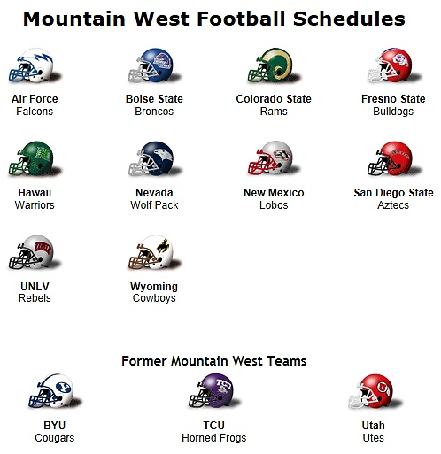 Mountain West Conference 2012 Football Teams