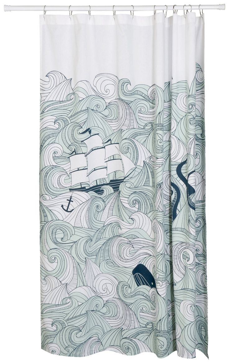 Amazon Com Danica Studio Shower Curtain Odyssey Anchor Shower Curtain