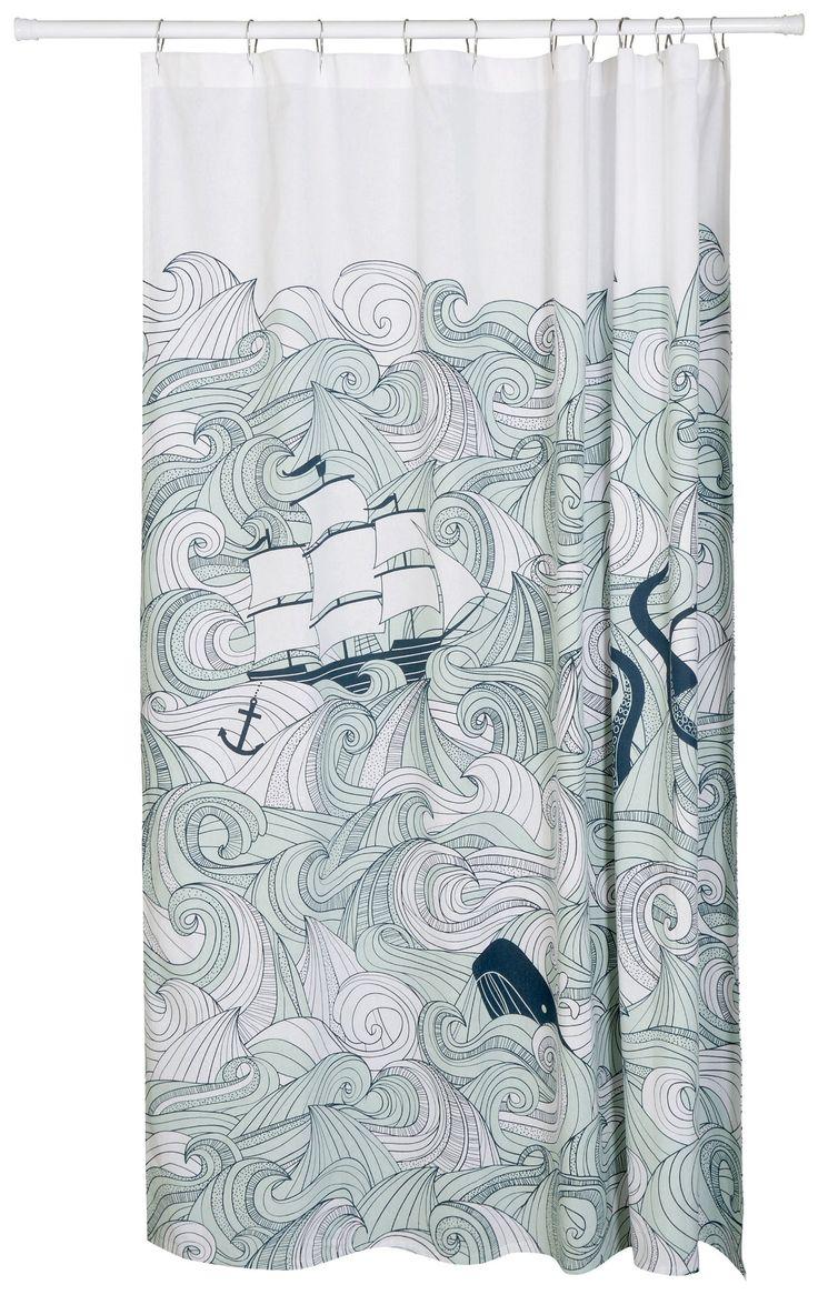 Amazon Com Danica Studio Shower Curtain Odyssey Anchor Shower Curtain