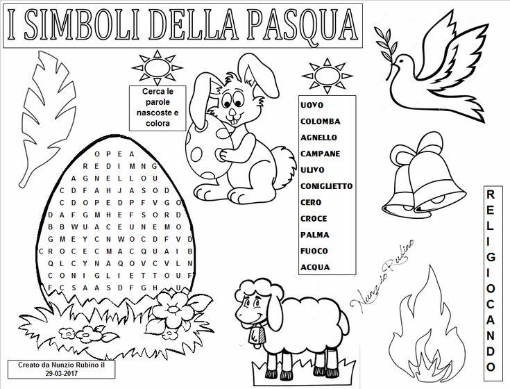 I Simboli Della Pasqua I Simboli Pasquali Disegni Pinterest