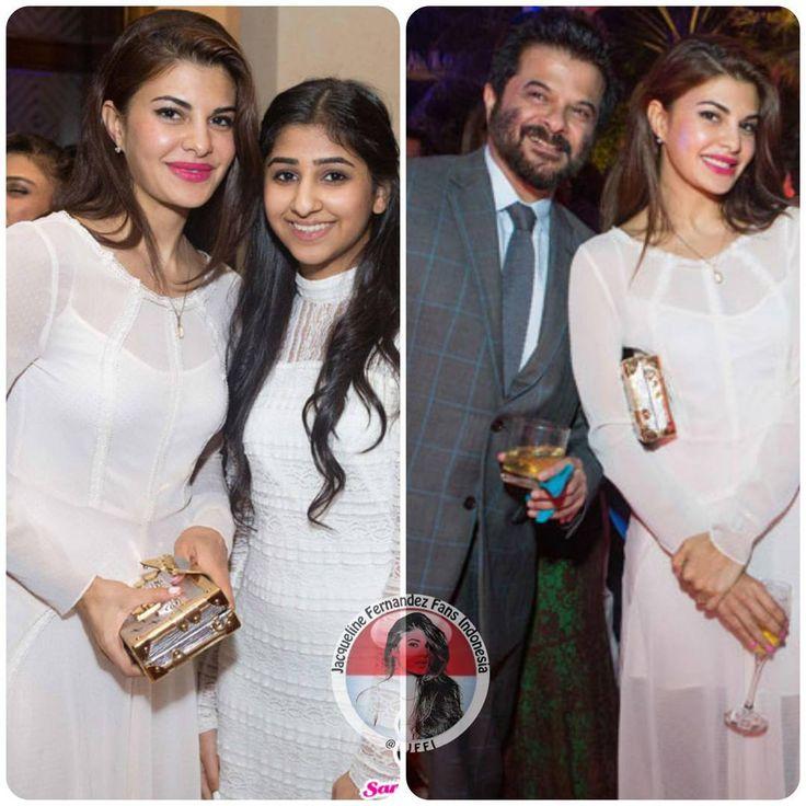 """More pic @jacquelinef143 at Anil Kapoor birthday bash in Dubai #jacquelinefernandez #anilkapoor"""