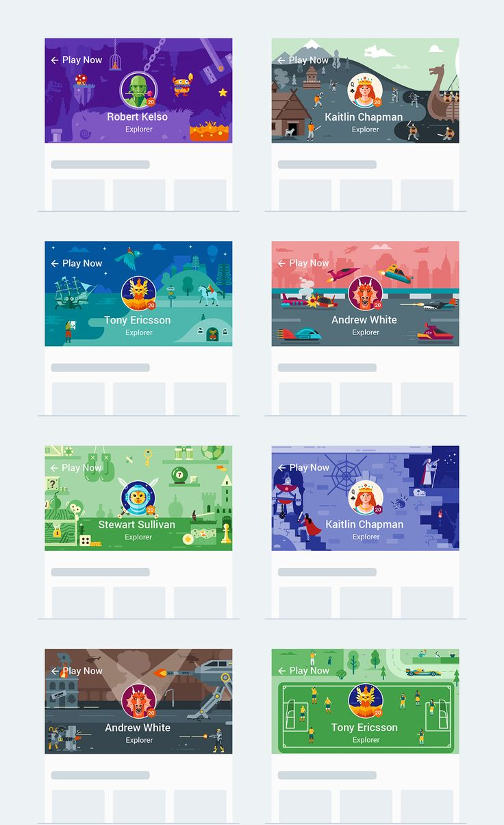 Google Play Store illustrations on Behance