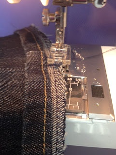 Great tutorial for hemming jeans