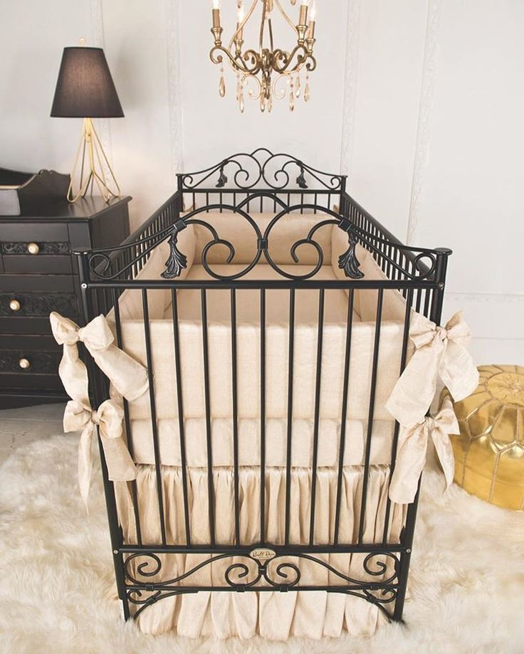 "673 Likes, 10 Comments - Bratt Decor (@bratt_decor) on Instagram: ""Inspired by antique french wrought iron cribs, our Casablanca crib is timelessness and elegance…"""