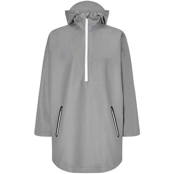 Sweaty Betty Keep Dry Luxe Cape featuring polyvore, fashion, clothing, activewear, granitegrey, waterproof poncho and sweaty betty