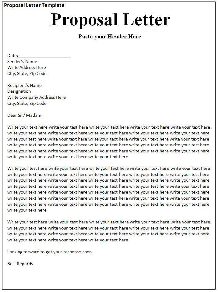 Proposal Acceptance Letter Template Proposal letter