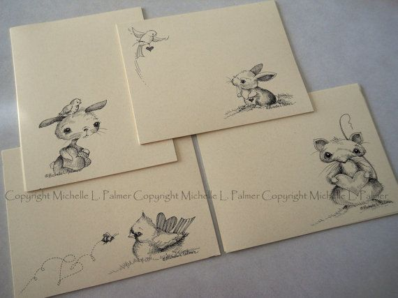 """Litchfield Hill Notepaper Stationery by Michelle L. Palmer 4.25"""" x 5.5"""" Heart to Heart Valentine 40 pages"""
