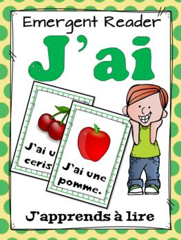 "Voici un petit livre pour les lecteurs débutants afin de pratiquer une structure répétitive - ""J'ai"". Le livre contient le vocabulaire de l'ensemble GROWING BUNDLE ""J'apprends à lire en"