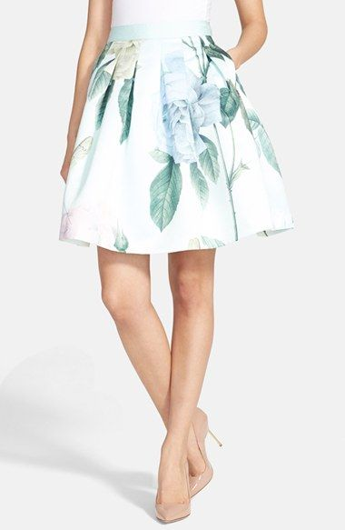 Ted Baker London 'Rose Maari' A-Line Skirt available at #Nordstrom