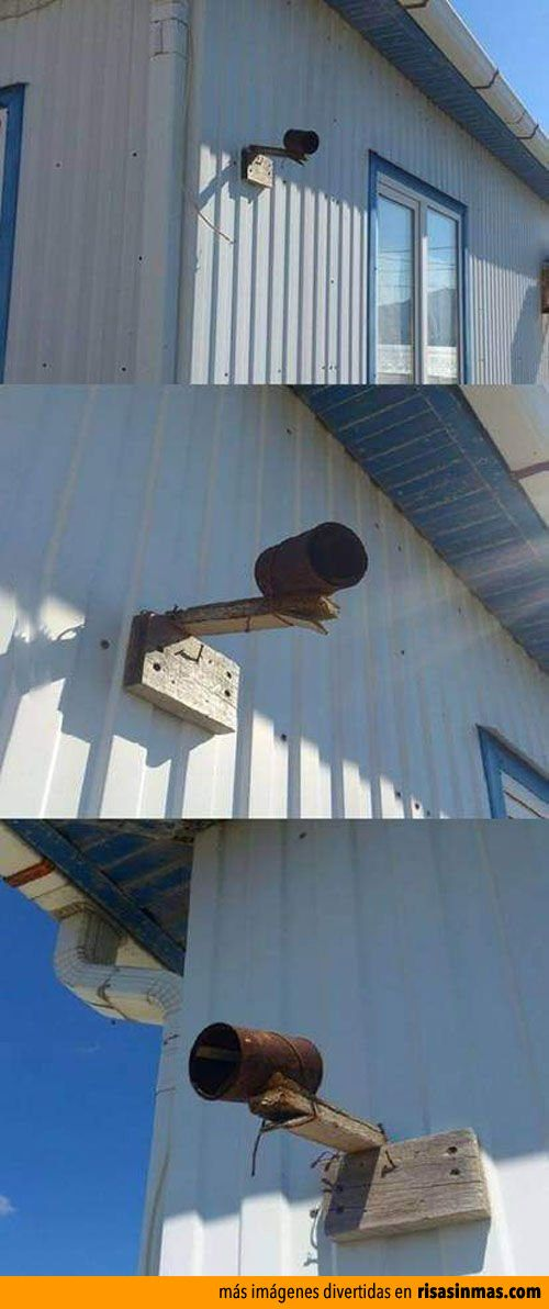 Cámara de vigilancia casera.
