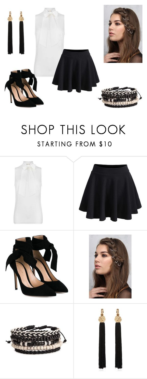School Uniform by holypotato on Polyvore featuring MICHAEL Michael Kors, WithChic, Gianvito Rossi, Yves Saint Laurent and Rare London