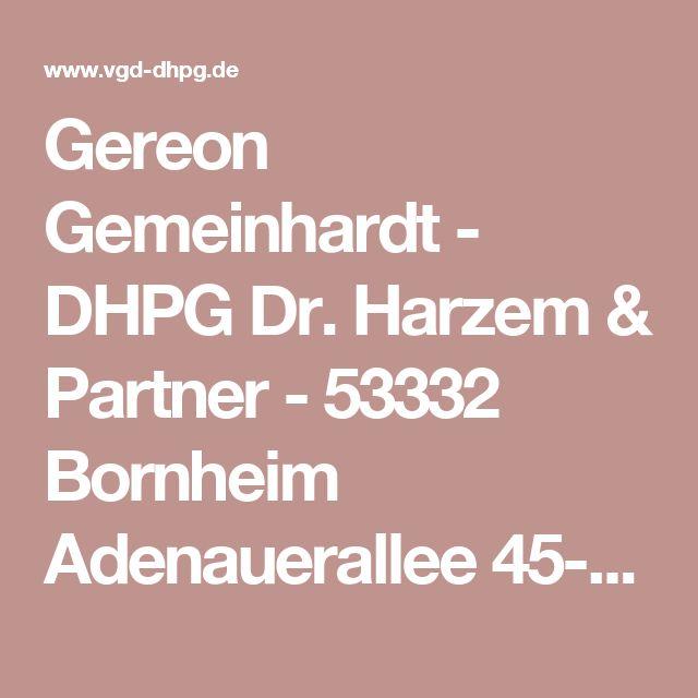 Gereon Gemeinhardt - DHPG Dr. Harzem & Partner - 53332 Bornheim Adenauerallee 45-49 | Betrug & Untreue im Insolvenzverfahren
