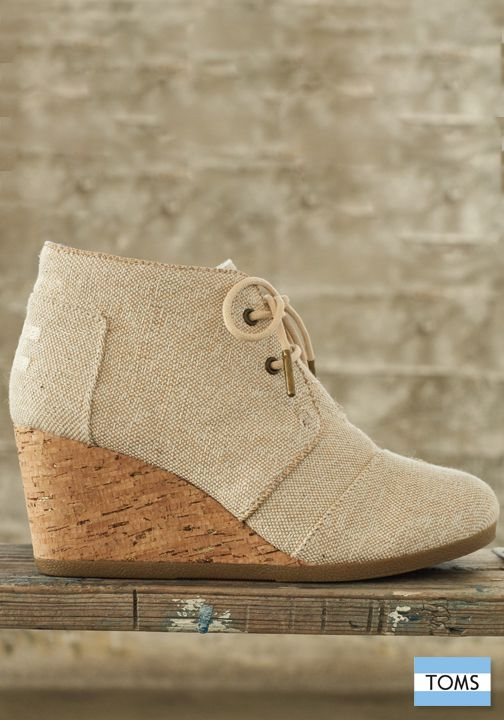 TOMS wedges add lift and style to any outfit, while also providing a new pair of shoes to a child in need.