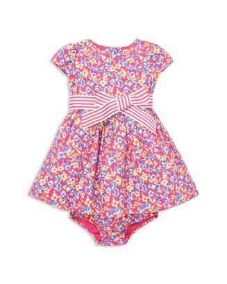 b77403ead Ralph Lauren Girls  Floral Fit-and-Flare Dress   Bloomers Set - Baby ...