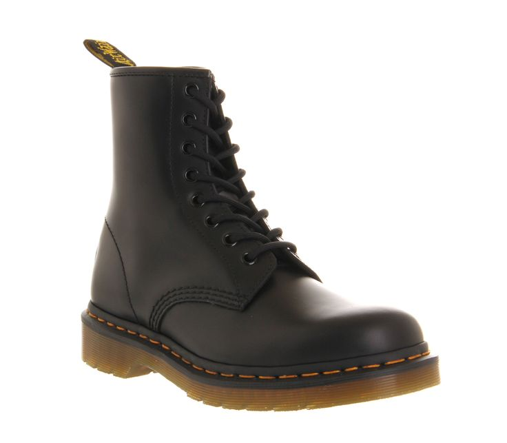 Dr. Martens 8 Eyelet Lace Up Bt Black Exclusive - Ankle Boots