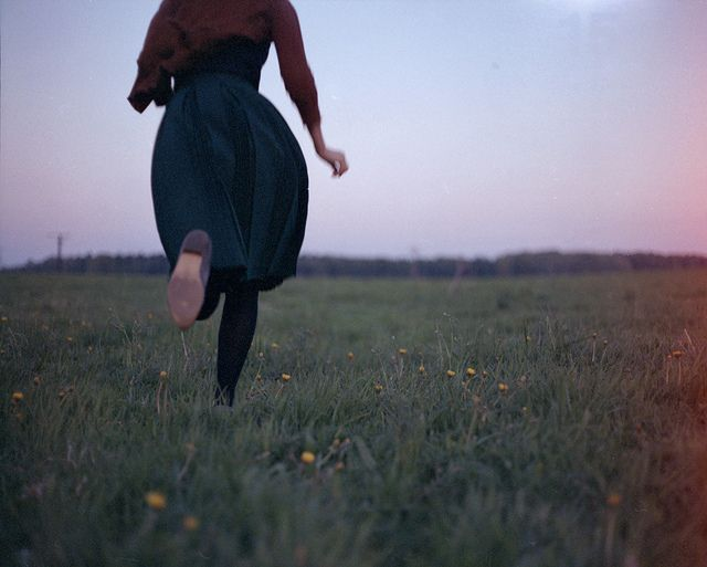 Empty field -- and running with all my thoughts
