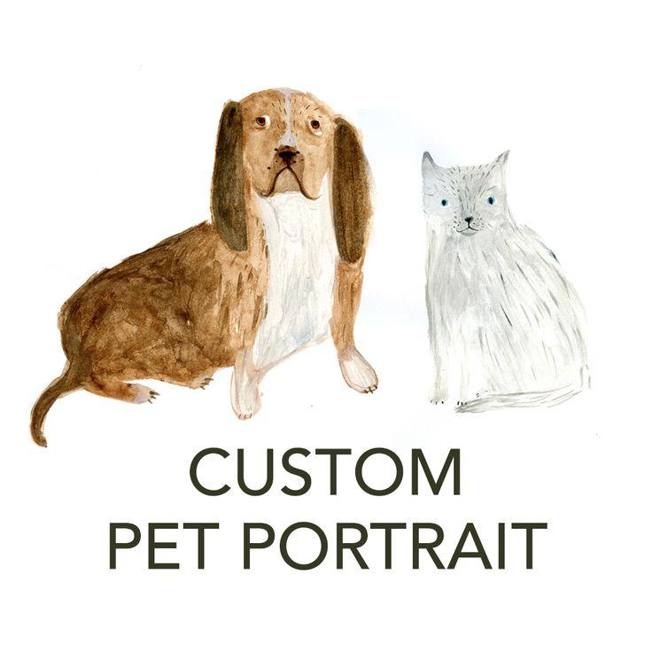 Custom Pet Portrait by Katie Wilson / in my backyard